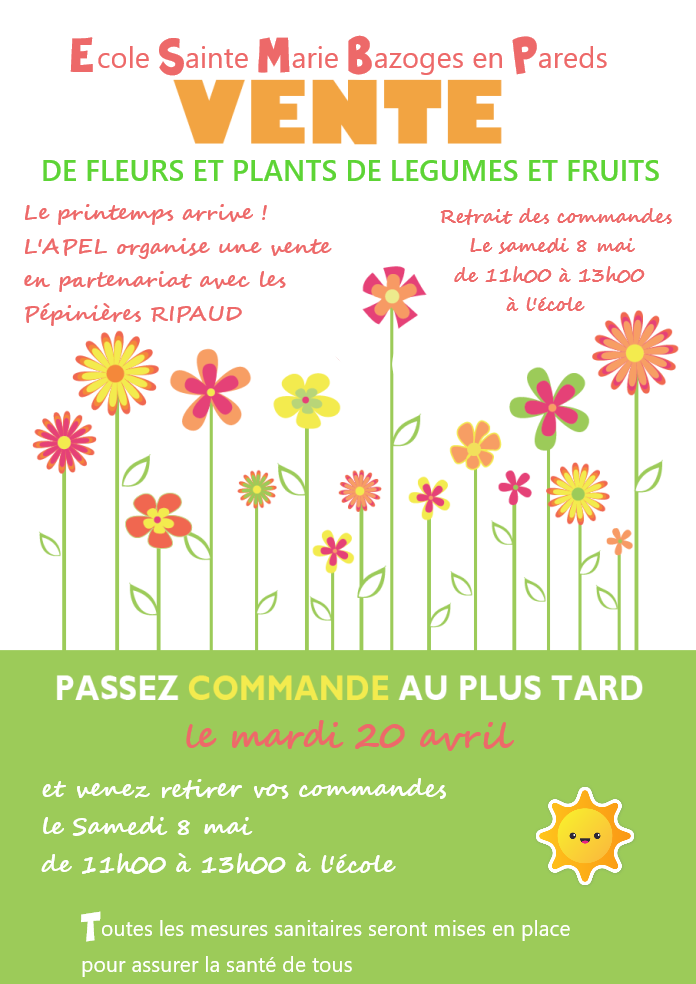 Vente de fleurs et de plants de légumes et fruits